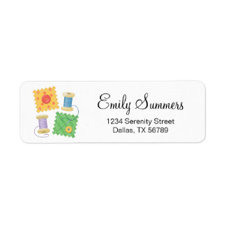 Sewing Quilting Craft Hobby Address Return Address Label