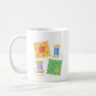 Sewing Quilting Craft Hobby Quote Coffee Mug