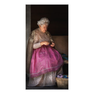 Sewing - Ribbon - Granny s hobby Photo Card