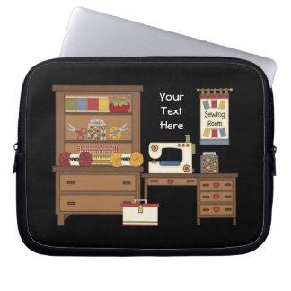 Sewing Room 1 (customizable) Laptop Sleeves