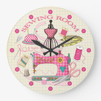Sewing Room Large Clock