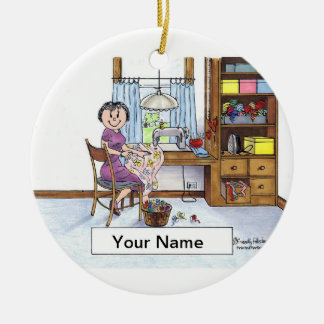 Sewing, Seamstress, Quilter Ceramic Ornament