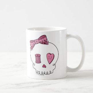 Sewing Skull (Pink) Coffee Mug