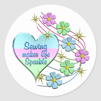 Sewing Sparkles Classic Round Sticker