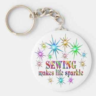 Sewing Sparkles Keychain