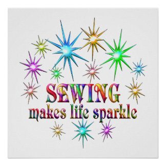 Sewing Sparkles Poster