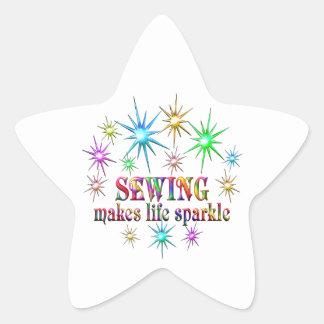 Sewing Sparkles Star Sticker