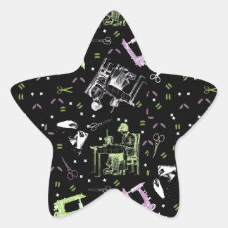Sewing Star Sticker