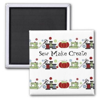Sewing Supplies All in a Row Magnet