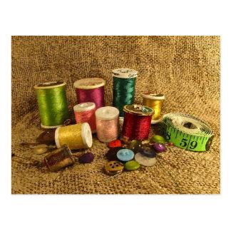 Sewing Supplies Postcard