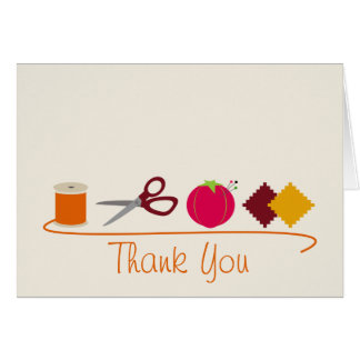 Sewing Thank You Card