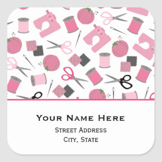 Sewing Themed Address Sticker