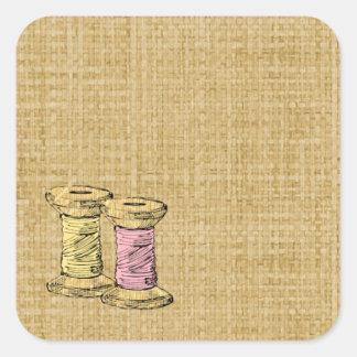 Sewing Thread Burlap Label Sticker