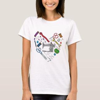 Sewing Tools Heart T-Shirt