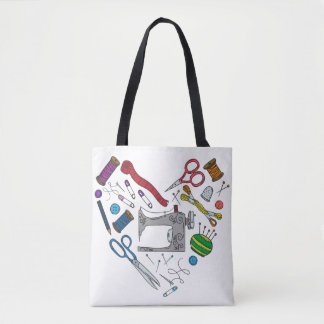 Sewing Tools Heart Tote