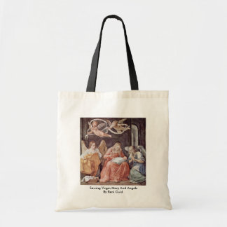 Sewing Virgin Mary And Angels By Reni Guido Tote Bag