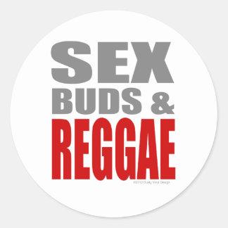 SexBuds & REGGAE Classic Round Sticker