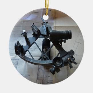 Sextant For Celestial Navigation Ceramic Ornament