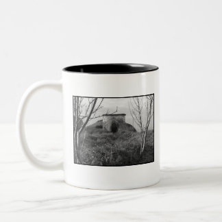 Sexton Burrow Lookout Tower. England Two-Tone Coffee Mug