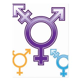 Sexuality Symbol Postcard