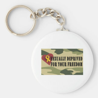 Sexually Deprived for Your Freedom Keychain