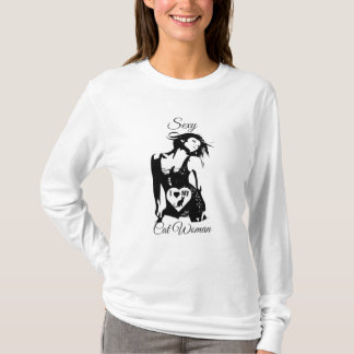 Sexy Cat Woman-Ladies T-Shirt