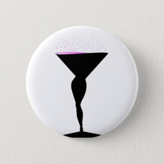 Sexy Champagne Glass 2 Inch Round Button