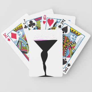 Sexy Champagne Glass Bicycle Playing Cards