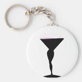 Sexy Champagne Glass Keychain
