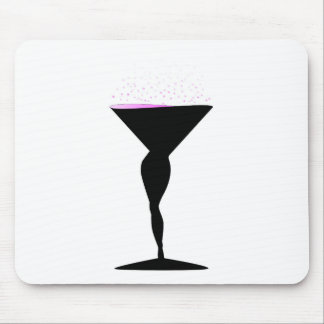 Sexy Champagne Glass Mouse Pad