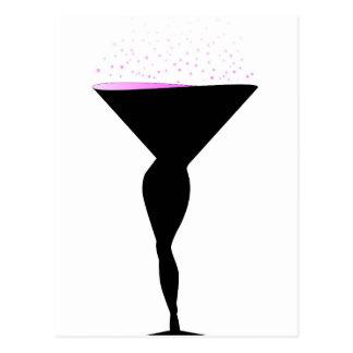 Sexy Champagne Glass Postcard