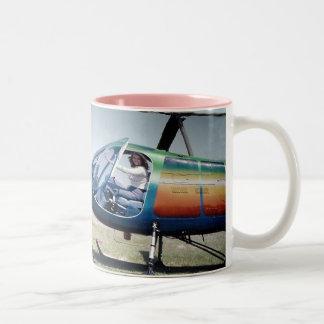 Sexy Female Pilots Wear Aviation Fuel, Not Perfum Two-Tone Coffee Mug