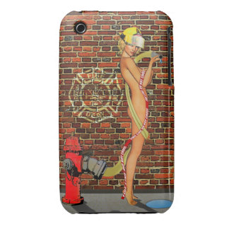 Sexy Firefighter PinUp iPhone 3 Covers