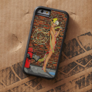 Sexy Firefighter PinUp Tough Xtreme iPhone 6 Case