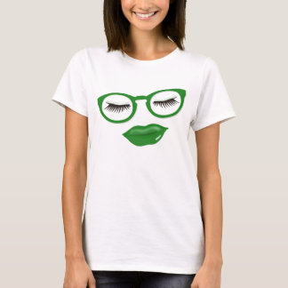 Sexy Green Glasses T-Shirt