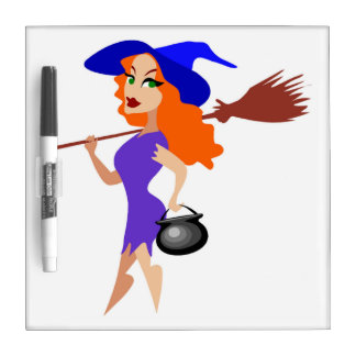 SEXY HALLOWEEN WITCH DRY ERASE BOARD