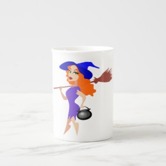 SEXY HALLOWEEN WITCH TEA CUP