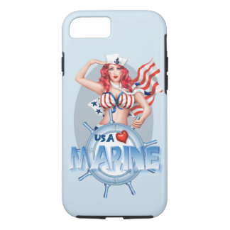 SEXY MARINE  CARTOON Apple iPhone 7  TOUGH iPhone 8/7 Case