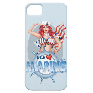 SEXY MARINE  CARTOON iPhone SE + iPhone 5/5S iPhone 5 Case