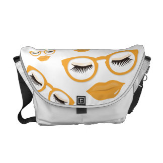Sexy Orange Glasses Medium Messenger Bag