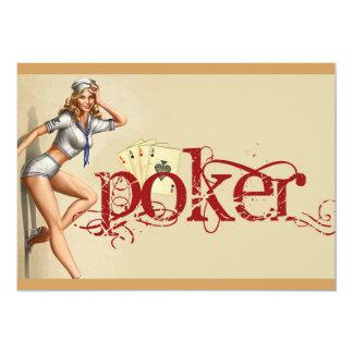 Sexy poker woman card