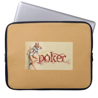 Sexy poker woman laptop sleeve