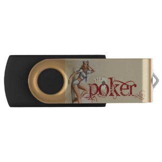 Sexy poker woman swivel USB 2.0 flash drive
