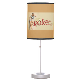 Sexy poker woman table lamp