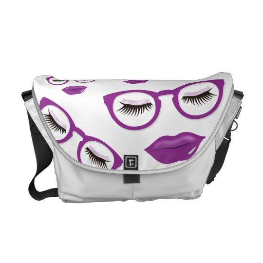 Sexy Purple Glasses Medium Messenger Bag