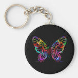 SEXY RAINBOW BUTTERFLY PATTERN KEYCHAIN