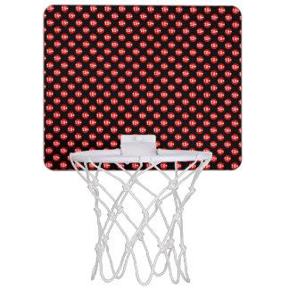 Sexy red and black polka dot mini basketball hoop