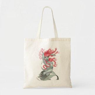 Sexy Redhead Mermaid Tote Bag