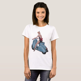 Sexy Sassy Scooter Girl T-Shirt