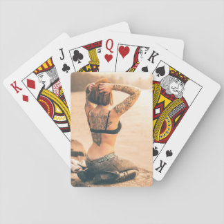 Sexy Tattooed Lady Playing Cards